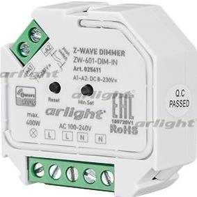 Купить INTELLIGENT ARLIGHT Диммер ZW-601-DIM-IN (100-240V, 1x2A) Arlight 025611, Россия